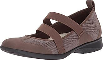 Trotters Womens Josie Mary Jane Flat, Taupe, 12 2W US