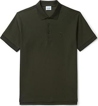f9c43716e Burberry Slim-fit Logo-embroidered Cotton-piqué Polo Shirt - Dark green