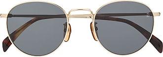 David Beckham Óculos de sol redondo com lentes coloridas - Dourado