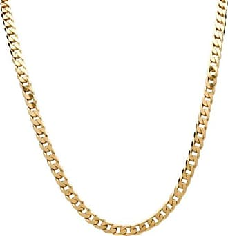 PalmBeach Jewelry Curb-Link Chain Necklace in 18k Gold-Plated Sterling Silver 22 (6.5mm)