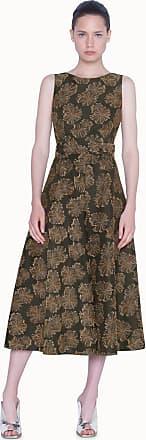 Akris Wüstenblumen Midi-Kleid aus Jacquard mit passendem Gürtel