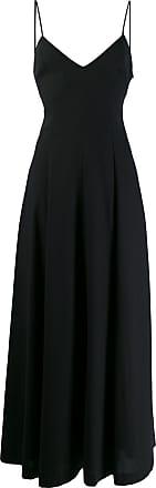 Ami Vestido longo com decote em V - Preto