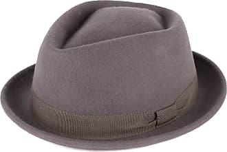 Hat To Socks Grey Wool Diamond Shaped Pork Pie Hat Waterproof & Crushable Handmade in Italy