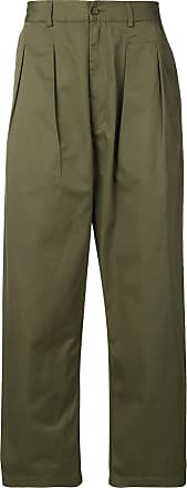 Universal Works double pleat work trousers - Green