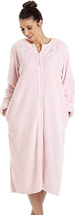 Camille Womens Soft Fleece Pink House Coat 14/16 Pink