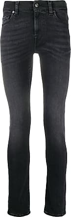 7 For All Mankind Calça jeans slim cintura média - Preto