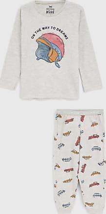 Hering Kids Pijama Hering Kids Longo Infantil Estampado Cinza