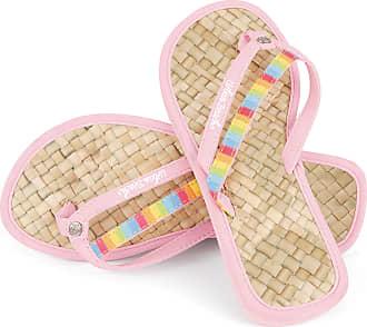 Urban Beach Ladies Sweet Toe Post Beach Flip Flops Sandals Shoes (UK 3, Pink)