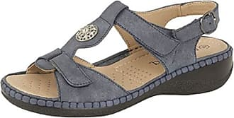 Boulevard Ladies Touch Fastening Halter Back Sandals with Leather Lining (8 UK, Navy)