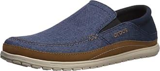 Crocs Mens Santa Cruz Playa Slip-On Loafers, Blue (Navy/Cobblestone 4ft), 6 UK 39/40 EU