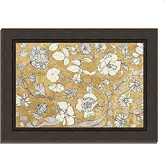 Tangletown Fine Art Floral Joy II by Wild Apple Portfolio Framed Art, Tan, Taupe, Brown, White