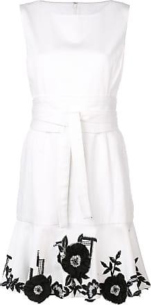 Natori Vestido jeans com bordado - Branco