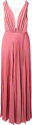 Elisabetta Franchi Vestido de festa com pregas e brilho - Rosa