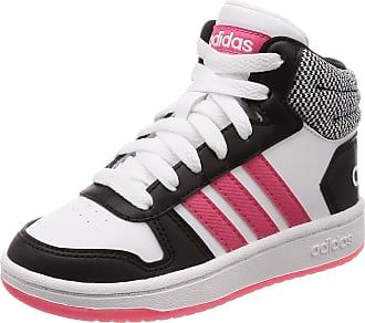 buy popular fd4be cc402 adidas Unisex Kids Hoops Mid 2.0 Basketball Shoes, White  (Cblack Reapnk Ftwwht