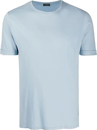 Zanone Camiseta lisa - Azul
