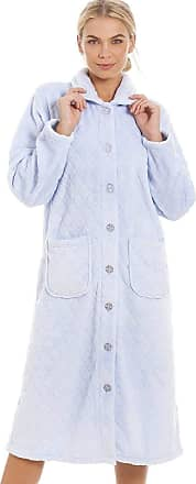Camille Womens Various Button Housecoats 14/16 Diamond Blue