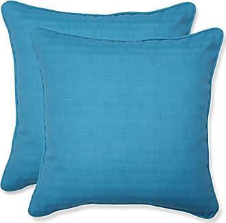 Pillow Perfect Outdoor Veranda Turquoise Throw Pillow, 18.5-Inch, Set of 2