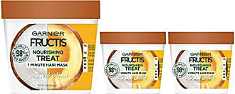 Garnier Fructis Nourishing Treat 1 Minute Hair Treat Mask with Moisturizing Coconut Extract (Packaging May Vary) 1 Kit