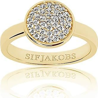Sif Jakobs Jewellery Ring Sacile - 18k gold plated with white zirconia