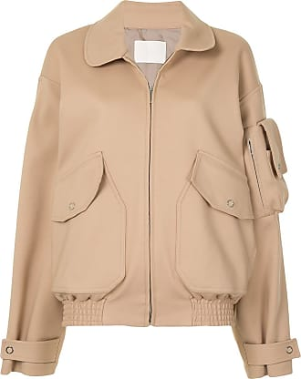 Dion Lee oversized-fit bomber jacket - Neutrals