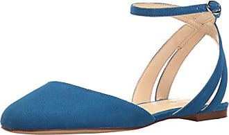 Nine West Womens Begany Suede Ballet Flat, Blue, 6.5 M US