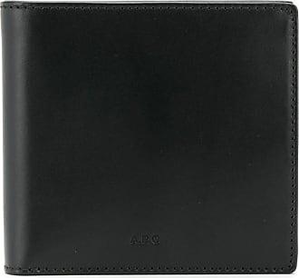 A.P.C. Carteira com gravação de logo - Preto