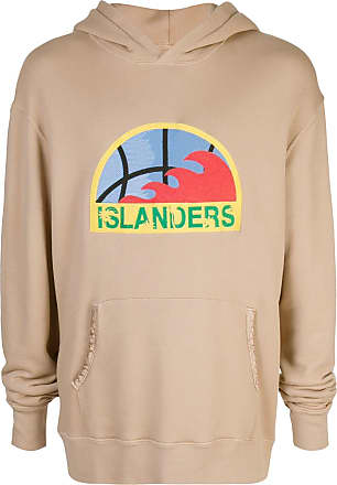 Just Don Blusa de moletom Islander com estampa - Marrom
