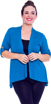 Nouvelle Collection Open Waterfall Cardigan Teal