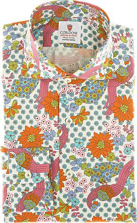 Cordone 1956 Camicia sartoriale Mod. Mykonos - Tessuto cotone - popeline - Colore bianca - Taglia 36