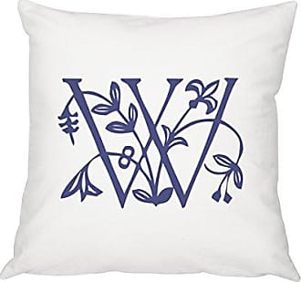 Cathy's Concepts Personalized Floral Initial 16 Throw Pillow