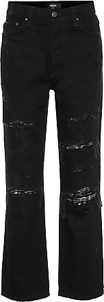Amiri Embellished high-rise straight jeans