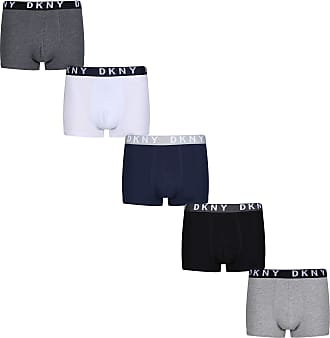 Men/'s DKNY Seattle 3 Pack Boxer Shorts in Black Grey and White