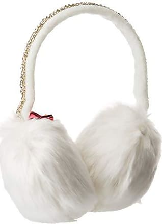 Betsey Johnson Womens AfterParty Jeweled Earmuff, ivory, ONE SIZE
