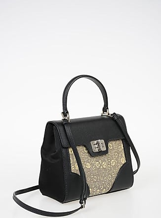 Prada Top Handle Bag with Lizard Skin Inserts Größe Unica