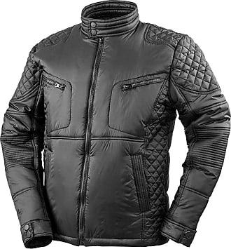 True Face Mens Black Jacket Slim Fit Biker Style Zip Up Casual Lightweight Top (XXL, Black)