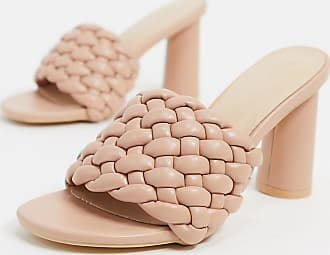 Z_Code_Z Exclusive Shani vegan woven heeled mules in beige