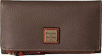Dooney & Bourke Pebble Fold-Over Wallet (Elephant/Tan Trim) Wallet Handbags