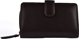 Visconti Ladies Medium LEATHER Purse/Wallet by Visconti; Heritage Collection Gift Boxed (Chocolate)