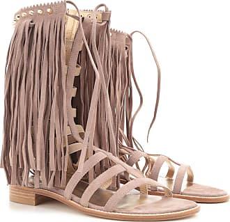 Stuart Weitzman Sandals for Women On Sale in Outlet, Beige, suede, 2017, US 7 (EU 37.5)