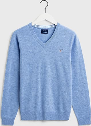 GANT Lambswool-Pullover mit V-Ausschnitt