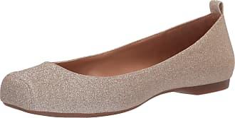 Jessica Simpson Womens Mickella Ballet Flat, Champagne Glitter, 5.5