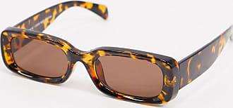 Weekday Cruise - Rechteckige Sonnenbrille in Schildpattoptik-Braun
