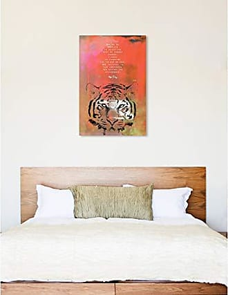 The Oliver Gal Artist Co. The Oliver Gal Artist Co. Oliver Gal Maggie P Chang-Tiger Orange Wild Animals Wall Art Print Premium Canvas 30 x 45