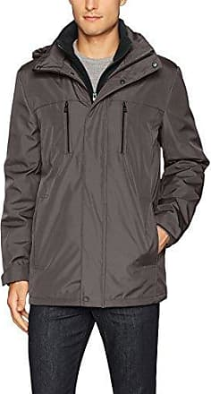 Kenneth Cole REACTION Mens Bonded Midweight Jacket with Fleece Zip Bib