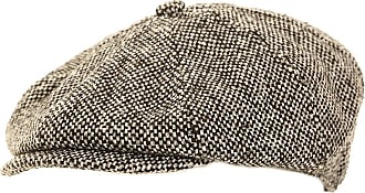Hawkins Mens Baker Boy Flat Cap with Quilted Lining 57cm Grey