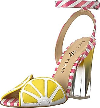 Katy Perry Womens The Citron Heeled Sandal, Yellow/Pink/White, 5 Medium US