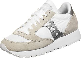 Saucony Unisex Adults Jazz Original Vintage White/Silver Track and Field Shoe, clanc/Argent, 3.5 UK