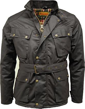 Men/'s Belted Fashion Jacket Biker Jacket Navy Quilted Coat Made in UK