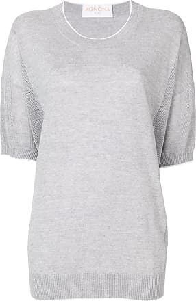 Agnona short-sleeve jumper - Grey