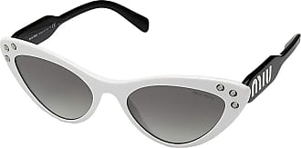 6d8c2c91bff1 Miu Miu 0MU 05TS (White Black Gradient Grey Mirror Silver) Fashion